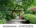 Red Torii Gate Surrounded By...