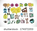 web icons  internet icon...   Shutterstock .eps vector #174372353