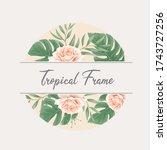 beautiful tropical watercolor... | Shutterstock .eps vector #1743727256