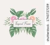 beautiful tropical watercolor... | Shutterstock .eps vector #1743727259