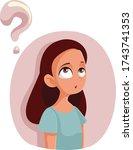 cartoon teen girl having... | Shutterstock .eps vector #1743741353