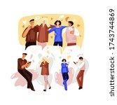 vector flat illustration of... | Shutterstock .eps vector #1743744869