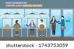 post quarantine. business... | Shutterstock .eps vector #1743753059