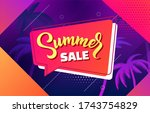 summer sale vector background... | Shutterstock .eps vector #1743754829