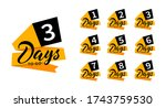 countdown banners. one  two ... | Shutterstock .eps vector #1743759530