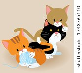 Cute Cartoon Kittens Playing...
