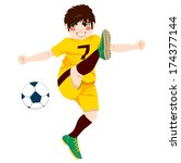 illustration of young male... | Shutterstock . vector #174377144