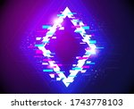 vectir illustration futuristic... | Shutterstock .eps vector #1743778103