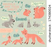 Baby And Mommy Animal Set   Fo...