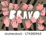 clapping hands applause  ... | Shutterstock .eps vector #174380963