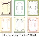 illustration of japanese frame...   Shutterstock .eps vector #1743814823