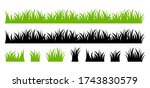 vector green lawn grass texture ... | Shutterstock .eps vector #1743830579