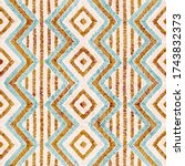 embroidered seamless geometric... | Shutterstock .eps vector #1743832373