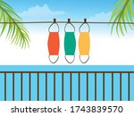 cotton face mask cleaning and...   Shutterstock .eps vector #1743839570