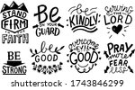 hand lettering set with bible... | Shutterstock .eps vector #1743846299