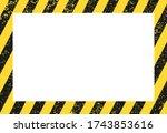 seamless grunge security yellow ... | Shutterstock .eps vector #1743853616