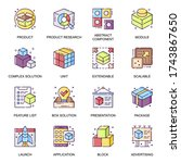 abstract product flat icons set....