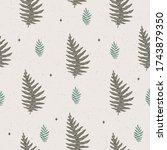 seamless floral pattern with...   Shutterstock .eps vector #1743879350