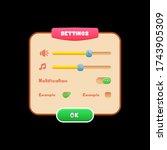 settings ui kit   game settings ...