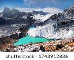 Himalaya Mountain Lake Glacier...