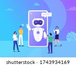 chatbot vector illustration...