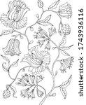 black and white plants... | Shutterstock .eps vector #1743936116