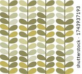 cute leaves seamless pattern or ... | Shutterstock .eps vector #1743937193