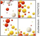 plastic bubbles  spheres ... | Shutterstock .eps vector #1743947153