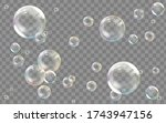 realistic transparent colored... | Shutterstock .eps vector #1743947156