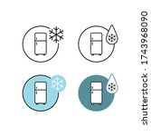 vector icons. picture of a... | Shutterstock .eps vector #1743968090