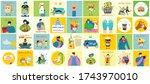 big set of posters wash hands ... | Shutterstock .eps vector #1743970010