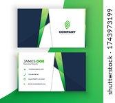 corporative abstract green... | Shutterstock .eps vector #1743973199