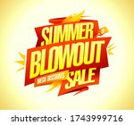 summer blowout sale   mega... | Shutterstock .eps vector #1743999716