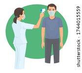 body temperature check in...   Shutterstock .eps vector #1744015559