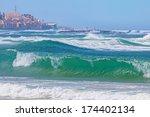 storm on the mediterranean sea...   Shutterstock . vector #174402134