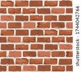old brick wall seamless pattern....   Shutterstock .eps vector #1744042766