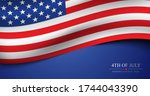 4th of july usa independence... | Shutterstock .eps vector #1744043390