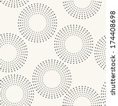 Seamless pattern with dotted circles. Vector repeating texture. Stylish background - stock vector