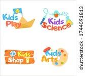 kids logo vector set. logo...   Shutterstock .eps vector #1744091813