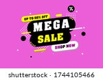 abstract colorful sales...   Shutterstock . vector #1744105466