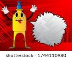 cartoon bottle of hand... | Shutterstock .eps vector #1744110980