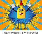 cartoon bottle of hand... | Shutterstock .eps vector #1744110983