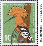 Germany   circa 1963  a postage ...