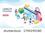 discount and loyalty program...   Shutterstock .eps vector #1744190180