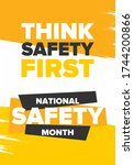 national safety month in june....   Shutterstock .eps vector #1744200866