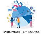 data organization. crm....   Shutterstock .eps vector #1744200956
