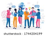 hackathon event . vector... | Shutterstock .eps vector #1744204199