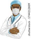 a doctor medical healthcare...   Shutterstock .eps vector #1744212839