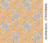 paisley ornamental seamless... | Shutterstock .eps vector #1744258646