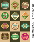 set of retro food labels.... | Shutterstock .eps vector #174426410